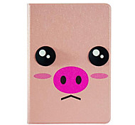 Pink Pig  Pattern Stereo Eye Stent Case for iPad Air
