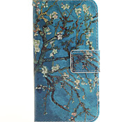 Apricot Flower Pattern PU Leather Full Body Cover with Stand for Samsung Galaxy J2/Galaxy J3