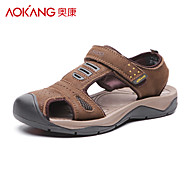 Men's Leather Sandals Khaki