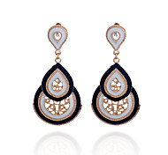 Fashion  Three Water Drop  Oil Drip Earrings