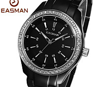 EASMAn Watch 2015 Women Silver Titanium Aluminum Quartz Watches Zircon Water Resistance Ladies Wristwatches Watches