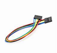 dupont 6 pines 2.54mm hembra al cable cable de extensión femenino por arduino- (20 cm)