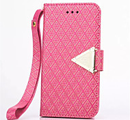 Diamond Design Leather Flip Stand Wallet Wrist Strap Rope Cover Case For iPhone 6/6S