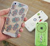 maycari®national Muster transparente TPU Tasche für iPhone 5 / iphone 5s