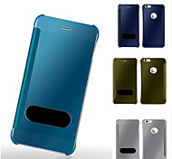 PU+PC Luxury Mirror Window Full Body Case For iPhone 6 Plus/6S Plus (Assorted Colors)
