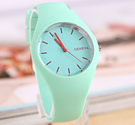 Men's Women's Unisex Fashion Watch Casual Watch Quartz Rubber Band Black White Blue Red Orange Green Pink Purple Yellow Beige Strap Watch