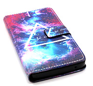 Triangle Pattern Flip Card Leather Phone Case for Wiko RAINBOW