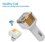 3.1a tinpec chargeur de voiture double USB avec un casque Bluetooth et d'oxygène négociation meilleure oreillette sans fil