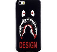 Eye tooth Pattern TPU Phone Case for iPhone 5/iPhone 5S