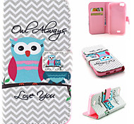 Owl Pattern Flip Card Leather Phone Case for Wiko LENNY