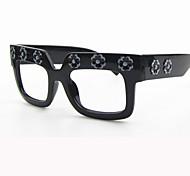 [Free Lenses]   Unisex 's Acetate/Plastic Square Full-Rim Fashion Prescription Eyeglasses