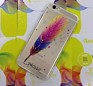 High Quality Plume Pattern Cover for iPhone 6S/6 (Random Colors)