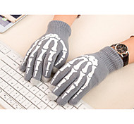 Phone Tablet Finger Tip Touch Screen Gloves Skeleton Smart Warm Winter Cotton Mitten For Men And Women (Luminous)