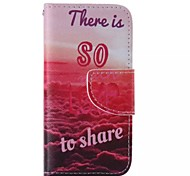 LOVE Pattern Cell Phone Leather For iPhone 5/5S