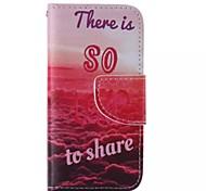 liebe Muster Handy Leder für iphone 5 / 5s