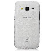 For Samsung Galaxy Case Transparent / Pattern Case Back Cover Case Flower TPU SamsungJ7 / J5 / J3 / J2 / J1 Ace / J1 / Grand Prime / Core
