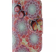 Colored Butterflies Painted PU Phone Case for iphone4/4S