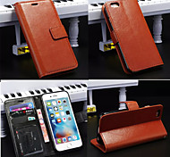 chaude magnétique cas en cuir étui portefeuille PU couverture de cadre photo avec une carte pour iphone 6 plus / 6s en plus