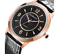 Men's Fashion Genuine Leather Quartz Watches