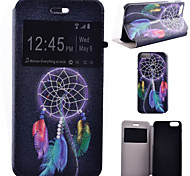 Color Dreamcatcher Pattern PU Leather Full Body Cover with Stand for iPhone 6/iPhone 6S