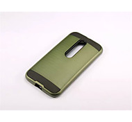 Armor Stripe Wiredrawing Hard Case PC+Silicone Skin Cover For Motorola Moto G3