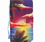 mare al tramonto modello PU carta ruotabile materiale in pelle per Samsung Galaxy Note 5/4