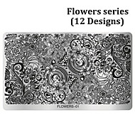 1pcs Flowers Design Nail Art Stamping,Polish Nail Stamp Plates Mould Stencil DIY Manicure Nail Template