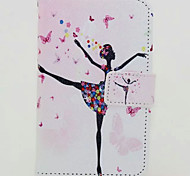 Dance Girl Painted PU Phone Case for iphone 6/6S