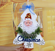 "48*34CM/19*13.4"" Christmas Tree Foam Santa Claus Doors Hangings Xmas Hotel Home Decoration Church Window Ceiling"