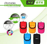 suave cubierta de la bolsa bolsa protectora neopine originales de mini neopreno portátil para caja de la cámara G7x canon