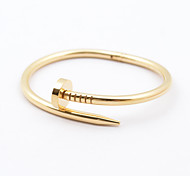 Classic Women's 316L Stainless Steel Nail Bangle Jewelry