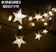 King Ro Solar 15ft 20LED Star Shape Christmas Tree Decor Light Outdoor Waterproof Holiday Light