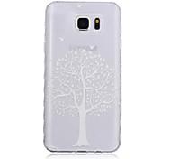 nuevas olas patrón árbol deslizan caso del tpu softphone mango para Samsung Galaxy Note 5/4/3