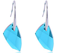 Korean Fashion  Austria  Crystal Gem Alloy Earrings