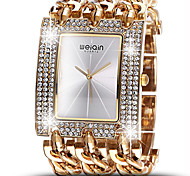 WEIQIN® Women Luxury Crystal Gold & Silver Strap Fashion Bangle Bracelet Watches Cool Watches Unique Watches