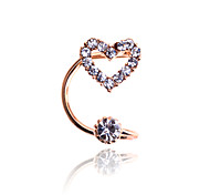 Korean Fashion Crystal Heart Ear Cuff
