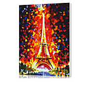 DIY Digital Oil Painting  Frame Family Fun Painting All By Myself  The Eiffel Tower X5041