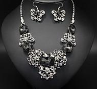 Elegant Hollow Butterfly Rhinestone Necklace / Earrings Jewelry Sets