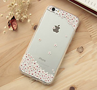 iFashion® Pink Flower Pattern TPU Soft Case for iPhone 6/6s