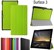 protectora funda casos tableta de cuero casos el soporte para Microsoft Surface 3
