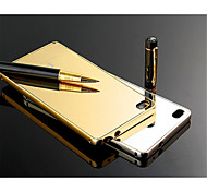Aluminum Metal Frame Case + Ultra Slim Acrylic Mirror Back Cover For Huawei P8/P8 Lite/4C/Honor 6/Honor 6 Plus/Mate 7