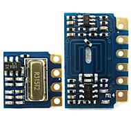 mini-récepteur RF de module émetteur 315MHz kit de liaison sans fil pour Arduino - bleu + noir