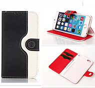 Wallet Dual Color Leather Pouch Credit Card Stand Mouse Lines Holster Purse Case For iPhone6/6S