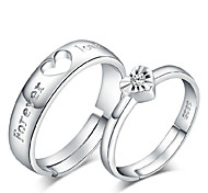 S925 Silver Authentic Ring Love Apartment Couples Ring Love Buddhist Monastic Discipline (A Set Of 2 Rings) Promis rings for couples