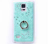 TPU caso de capa mole de diamante de volta com suporte de toque do telefone móvel shell telefone móvel por galáxia nota 5 / nota 4