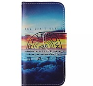 RAIN Pattern Cell Phone Leather For iPhone 5/5S