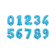 NEW 10PCS 20Inch Blue Balloons New Year 2015 Digital Aluminum Film Wedding Party Decoration Dressed Foil Balloons