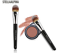 Stellaalpina Foundation Brush Synthetic Hair MAC Makeup Style Professional / Eco-friendly Wood Face