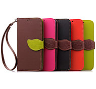 Leaf Pattern PU Wallet Leather Case with Hand Line for Hong Mi 2/Xiao Mi 4(Assorted Colors)