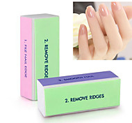 2 Pcs Professional Colorful 4 Way Nail File Buffer Polishing Block Sanding Nail Art Manicure Nail Art Tools